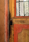 Painted Door Prints - Mission San Miguel Arcangel Door Print by Tony Ramos