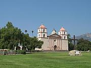 St Barbara Prints - Mission Santa Barbara Print by Christiane Schulze