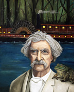 Huckleberry Finn Prints - Mississippi Sam Print by Leah Saulnier The Painting Maniac