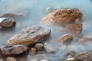 Rocky Beach Prints - Misty Rocks Print by Dirk Ercken