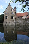 Moated Castle Prints - Moated Castle Vischering Print by Christiane Schulze