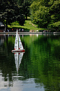 Racing Prints - Model Boat Basin Central Park Print by Amy Cicconi