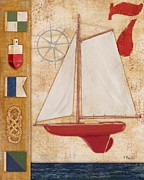 Toy Boat Painting Posters - Model Yacht Collage II Poster by Paul Brent