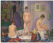 Fine Art  Of Women Painting Posters - Models Poster by Georges Seurat