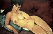 Amedeo (1884-1920) Posters - Modigliani, Amedeo 1884-1920. Nude Poster by Everett