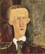 Modigliani Prints - Modigliani, Amedeo 1884-1920. Portrait Print by Everett