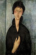 Amedeo (1884-1920) Posters - Modigliani, Amedeo 1884-1920. Woman Poster by Everett