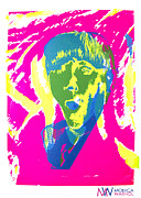 Icons Prints Painting Prints - Moe Howard Print by Monica Warhol
