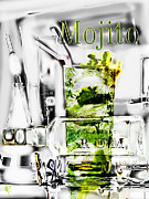 Fizz Mixed Media Metal Prints - Mojito Metal Print by Russell Pierce