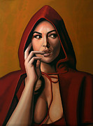 Symbol Painting Framed Prints - Monica Bellucci Framed Print by Paul  Meijering