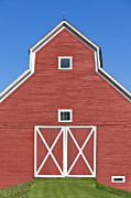 Blue Barn Doors Photos - Monitor Barn by Alan L Graham