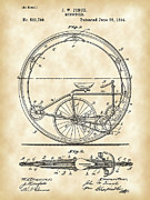 Triathlon Prints - Monocycle Patent Print by Stephen Younts