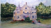 Monroe Painting Originals - Monroe Inn Auburn Maine  by Richard Benson