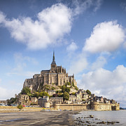 Summer Travel Framed Prints - Mont St Michel Normandy France Framed Print by Colin and Linda McKie
