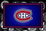 Puck Prints - Montreal Canadiens Print by Joe Hamilton