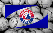 Baseball Bat Metal Prints - Montreal Expos Metal Print by Joe Hamilton