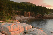 Down East Maine Art - Monument Cove At Sunrise by Stephen  Vecchiotti