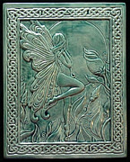 Clay Reliefs Metal Prints - Moon fairy Metal Print by Shannon Gresham