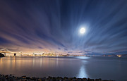 Moonlight Prints - Moonlight over San Francisco Print by David Yu