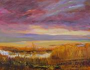 Julianne Felton Art - Morning Marsh  by Julianne Felton