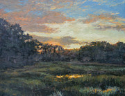 Gregory Arnett Painting Framed Prints - Morning on the Marsh - Wellfleet Framed Print by Gregory Arnett