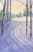 Cross-country Skiing Paintings - Morning Ski by Mary Levingston