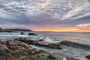 Maine Coast Prints - Morning Splash Print by Jon Glaser