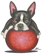 Funny Dog Drawings - Morris by Danny Gordon