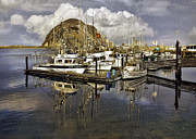 Morro Bay Photos - Morro Reflection by Sharon Foster