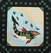Mosaic Fish Print by Lynda K Boardman