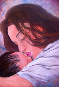 Child Jesus Paintings - Mother and Child by Lyn Deutsch