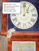 Hickory Dickory Dock Posters - Mother Goose, 1915 Poster by Granger
