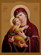 Orthodox Prints - Mother of God Print by Svitozar Nenyuk