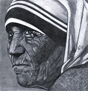 Mother Teresa Framed Prints - Mother Teresa Framed Print by Bobby Dar