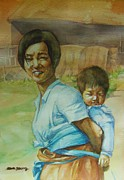Eun Yun - Mother With Baby