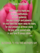 Mothers Day Poem Card Print by Debra     Vatalaro
