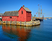 Schooner Prints - Motif Number One Rockport Lobster Shack Maritime Print by Jon Holiday