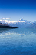 New Zealand Digital Art - Mount Cook with Lake Pukaki by Sheila Smart