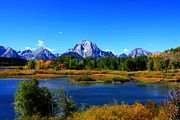 Grand Tetons Framed Prints - Mount Moran - Grand Teton National Park Framed Print by Aidan Moran