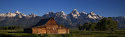 Grand Teton Art - Mountain Barn by Andrew Soundarajan