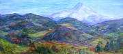 Quin Sweetman Paintings - Mountain Patchwork by Quin Sweetman