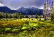 Rocky Mountains Digital Art - Mountain Valley by Ellen Lacey
