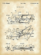 Parchment Prints - Mouse Trap Patent Print by Stephen Younts