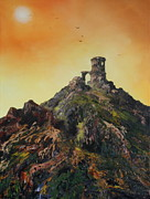 Mow Prints - Mow Cop Castle Staffordshire Print by Jean Walker