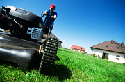 Mow Prints - Mowing the lawn Print by Michal Bednarek