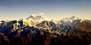 Tallest Digital Art Posters - Mt Everest Poster by Nichon Thorstrom