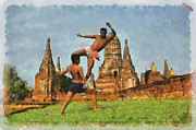 Champ Boxer Prints - Muay Thai Arts of Fighting  Print by Rames Ratyantarakor