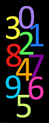 Numbers Digital Art - Multi-Color Numbers by Jackie Farnsworth