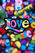 Multicoloured Love  Print by Tim Gainey