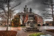Hall Digital Art Prints - Murfreesboro Town Hall Print by Brett Engle